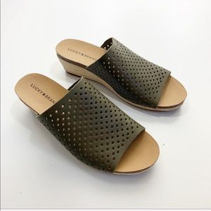 LUCKY BRAND | Olive Perforated Espadrille Sandals